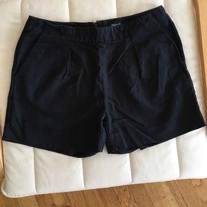 Madewell cotton linen black shorts